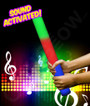 LED Sound Activated Foam Stick Baton - Multicolor