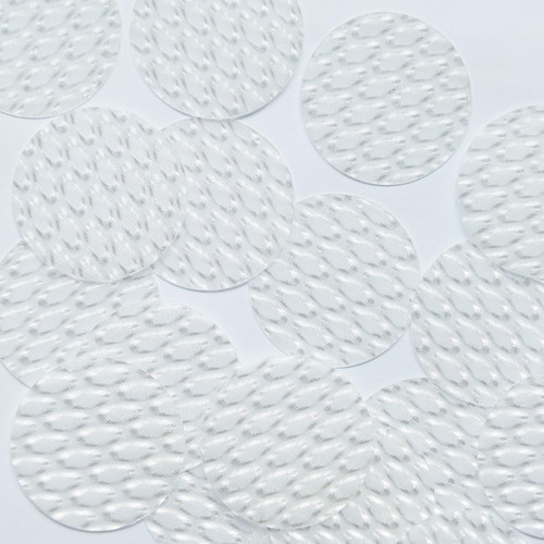 """1.5"""" Sequins Crystal White 3D Three Dimensional Reflector"""