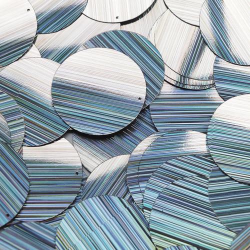 "1.5"" Sequins Silver City Lights Metallic Reflective"