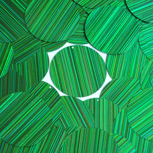 "1.5"" Sequins Green City Lights Metallic Reflective"