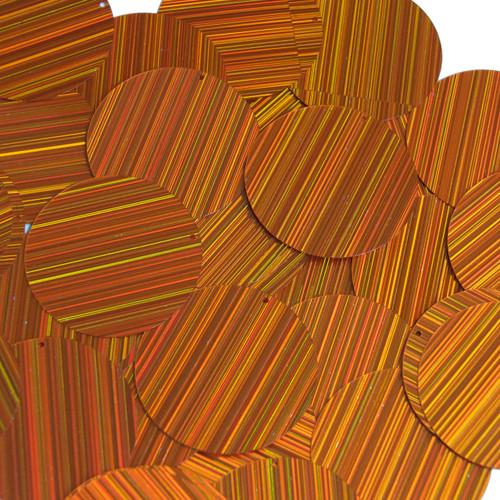 "1.5"" Sequins Orange City Lights Metallic Reflective"
