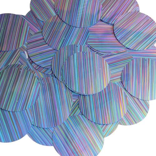 """1.5"""" Sequins Light Blue City Lights Metallic Reflective"""