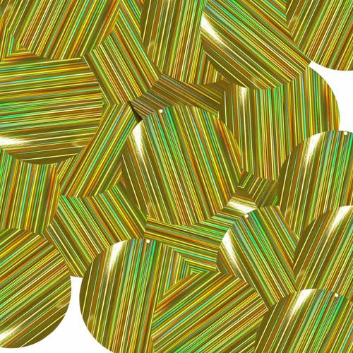 "1.5"" Sequins Gold City Lights Metallic Reflective"