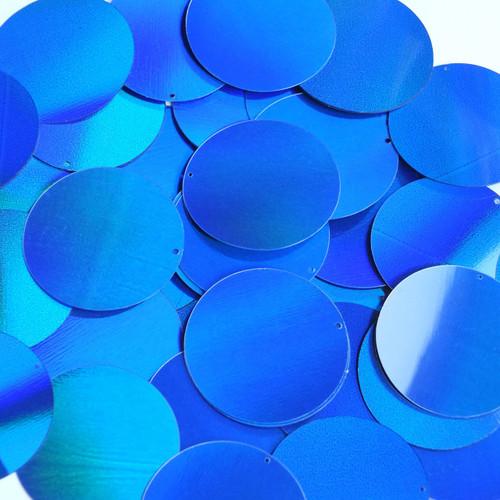 "1.5"" Sequins Blue Lazersheen Reflective Metallic"