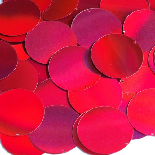"""1.5"""" Sequins Red Lazersheen"""