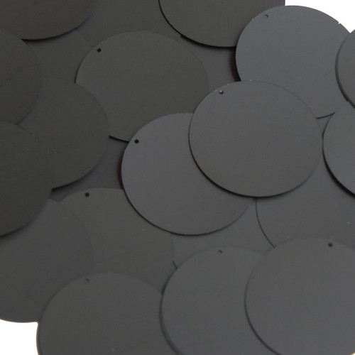 "1.5"" Sequins Black Matte Silk Frost"