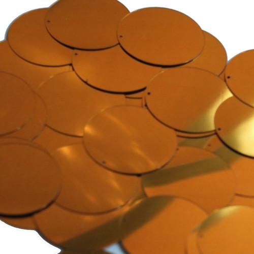 """1.5"""" Sequins Brass Gold Metallic"""