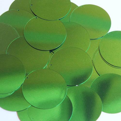 """1.5"""" Sequins Kelly Green Metallic"""