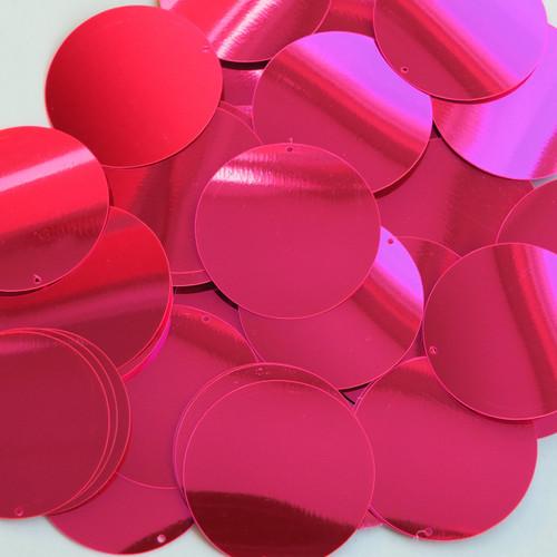 """1.5"""" Sequins Hot Pink Metallic Fluorescent"""