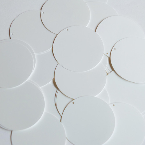 """1.5"""" Sequins Pearly White Opaque"""