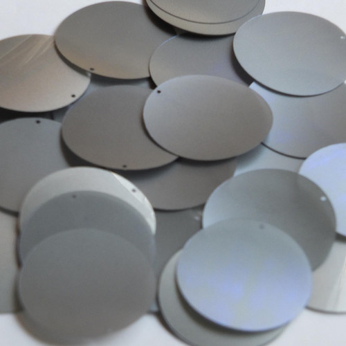 "1.5"" Sequins Platinum Lazersheen Translucent Translucent Lazersheen"