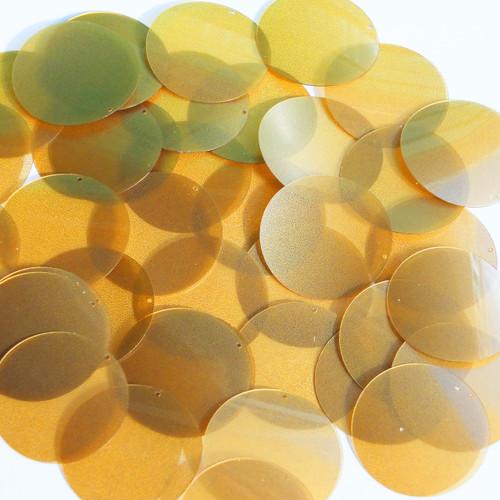 "1.5"" Sequins Gold Caramel Transparent See-Thru"