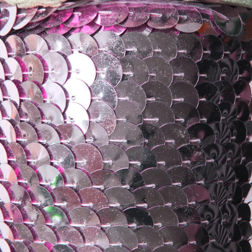 Sequin Trim 10mm Pink Metallic