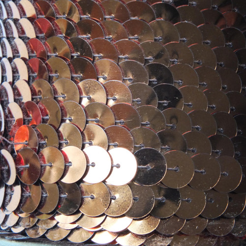 Sequin Trim 10mm Copper Metallic