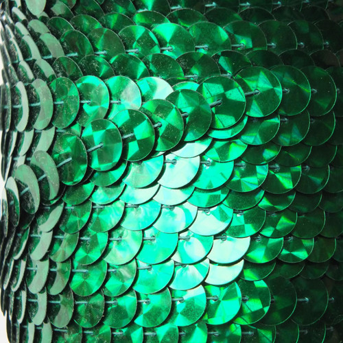 Sequin Trim 10mm Green Prism Metallic