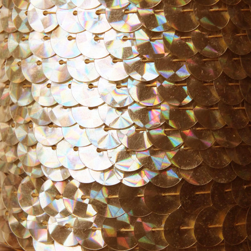 Sequin Trim 10mm Gold Prism Metallic