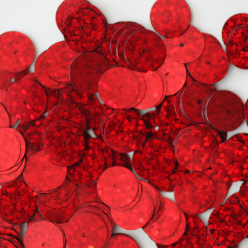 10mm Sequins Red Hologram Glitter Sparkle Metallic