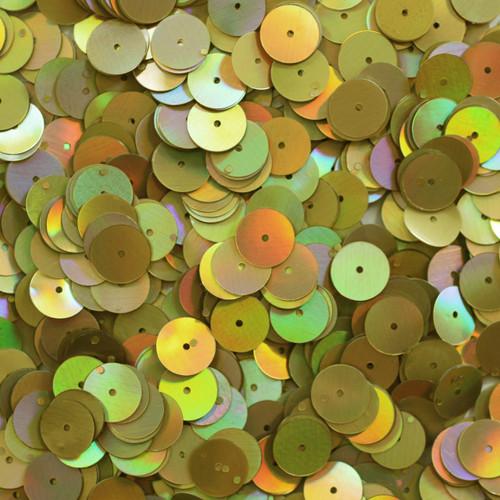 10mm Sequins Yellow Gold Lazersheen