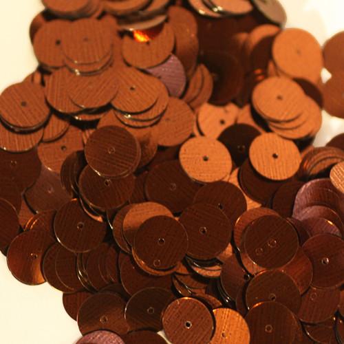 10mm Sequins Bronze Brown Metallic