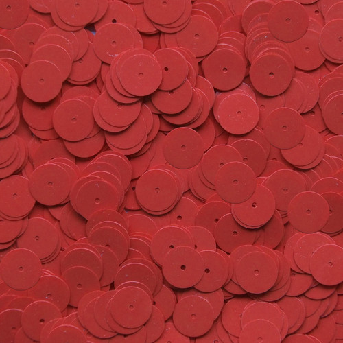 10mm Sequins Coral Red Opaque