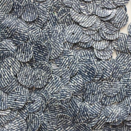 10mm Sequins Blue Jeans Denim Opaque