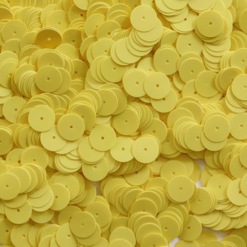 10mm Sequins Yellow Opaque