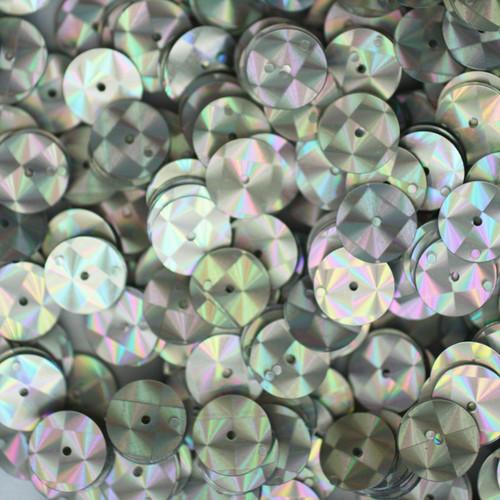 10mm Sequins Silver Prism Metallic