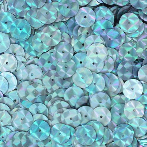 10mm Sequins Light Blue Aqua Prism Metallic