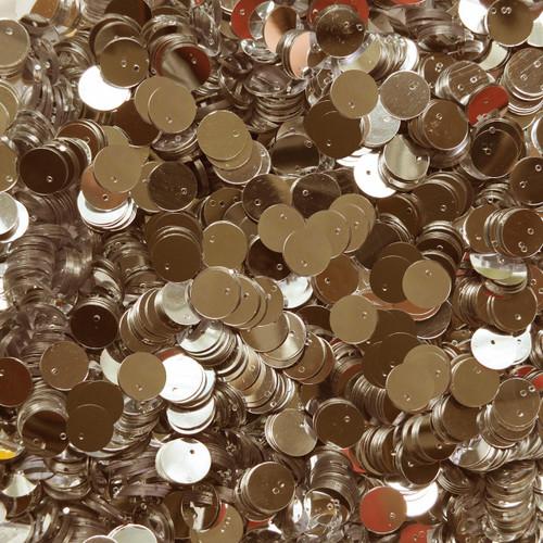 10mm Sequins Gold Metallic Top Hole