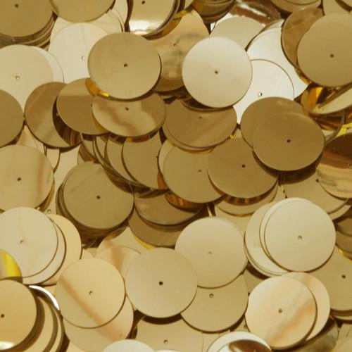20mm Sequins Center Hole Gold Metallic