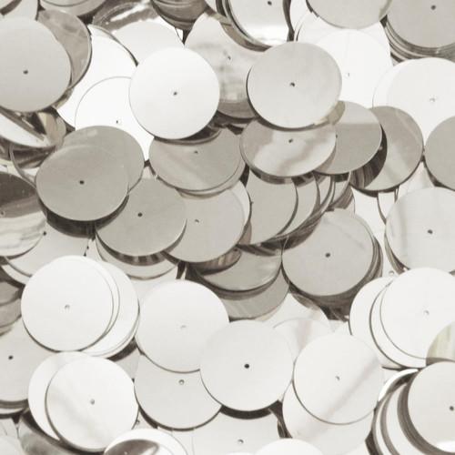 20mm Sequins Center Hole Silver Metallic