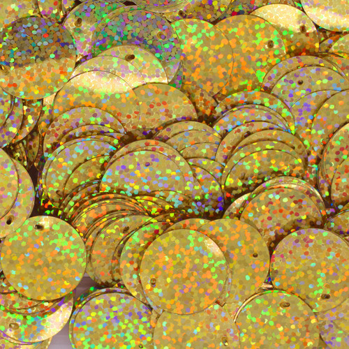 20mm Sequins Gold Hologram Glitter Sparkle Metallic