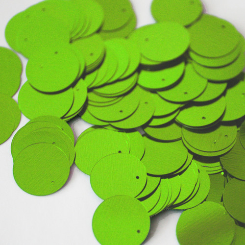 20mm Sequins Lime Green Metallic