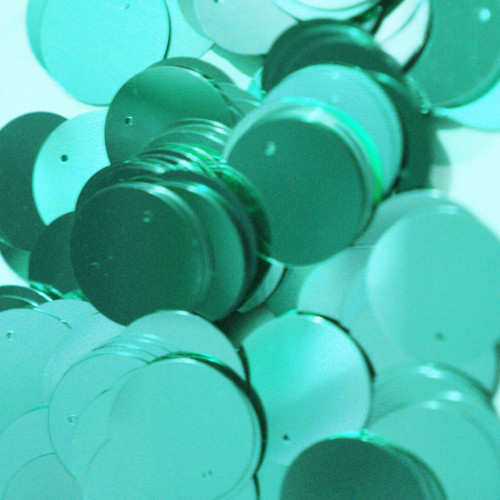 20mm Sequins Aqua Blue Metallic