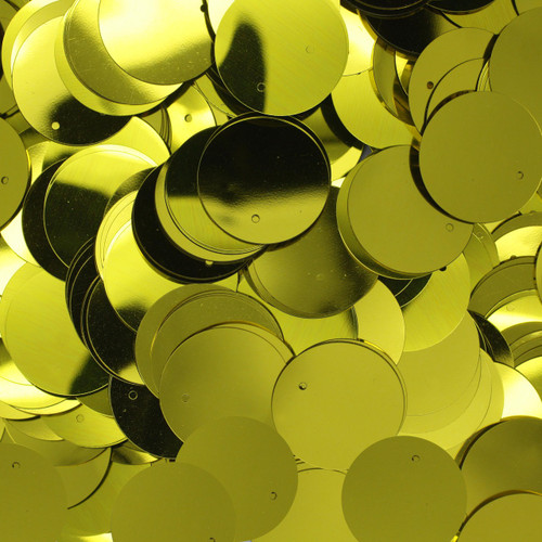 20mm Sequins Yellow Metallic