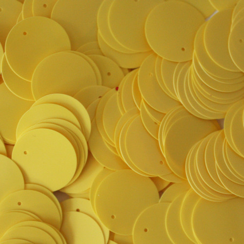 20mm Sequins Yellow Opaque