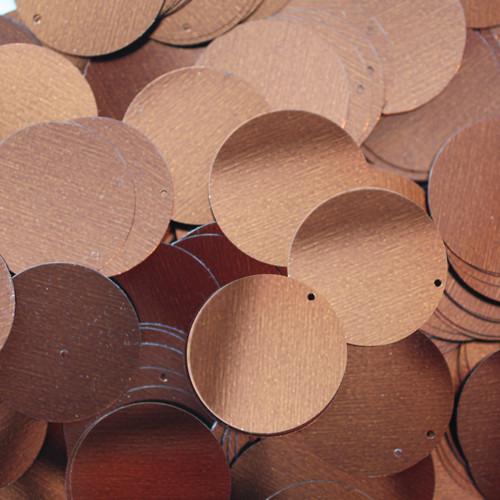 """1"""" Sequins Bronze Brown Metallic"""