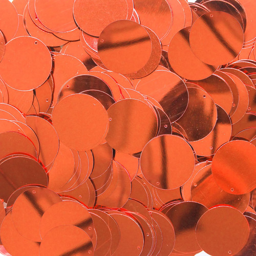 "1"" Sequins Orange Metallic"