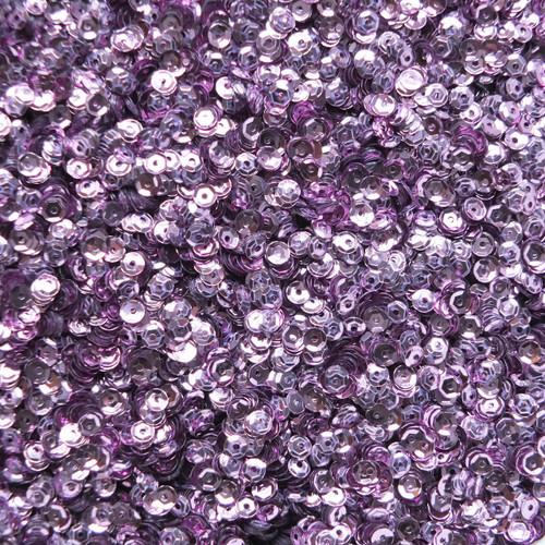 4mm Cup Sequins Lavender Lilac Metallic