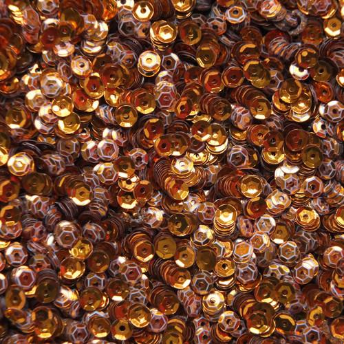 4mm Cup Sequins Orange Metallic