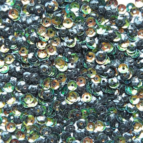 4mm Cup Sequins Bronze Jungle Rainbow Iris Metallic