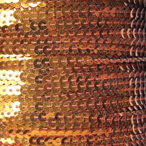 Sequin Trim 4mm Orange Metallic