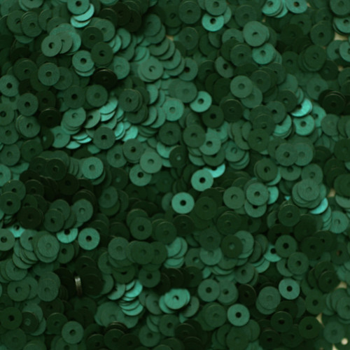 4mm Sequins Deep Forest Green Matte Silk Frost