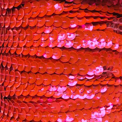 Sequin Trim 5mm Cup Hot Pink Fluorescent Metallic