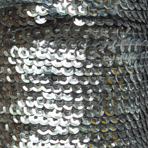 Sequin Trim 5mm Cup Silver Metallic