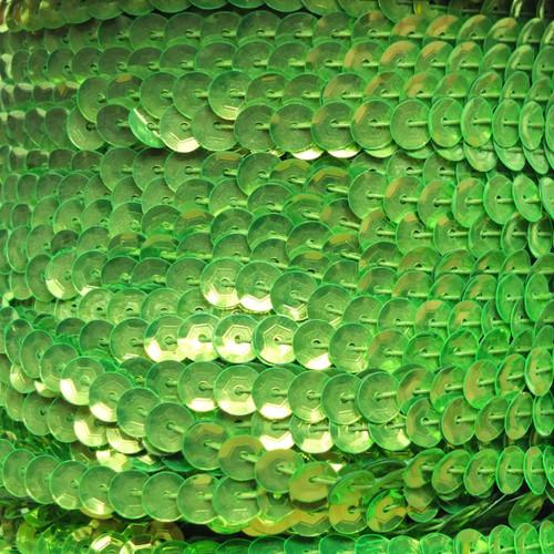 Sequin Trim 5mm Cup Lime Green Fluorescent Metallic