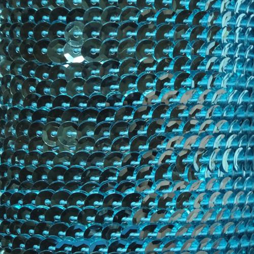 Sequin Trim 5mm Cup Aqua Blue Metallic