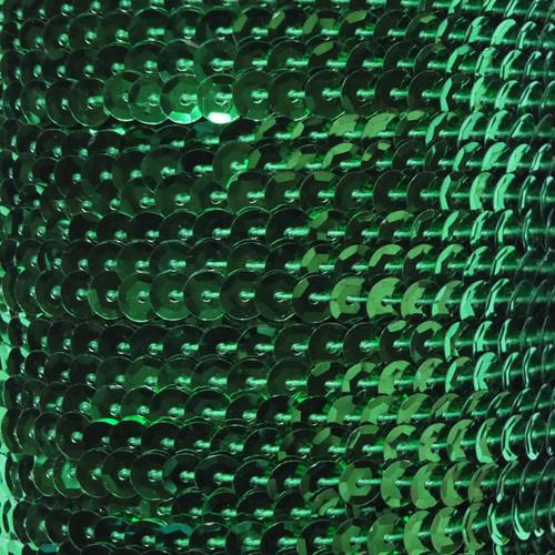 Sequin Trim 5mm Cup Kelly Green Metallic