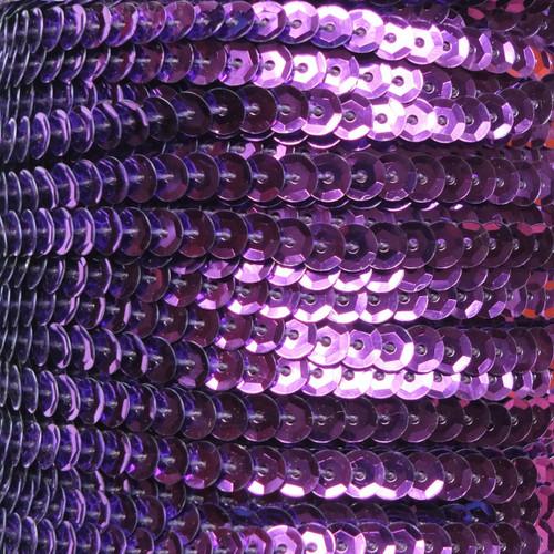 Sequin Trim 5mm Cup Purple Metallic