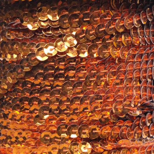 Sequin Trim 5mm Cup Orange Metallic